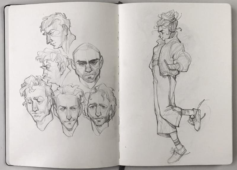 flipthrough // 2018-2019 sketchbook