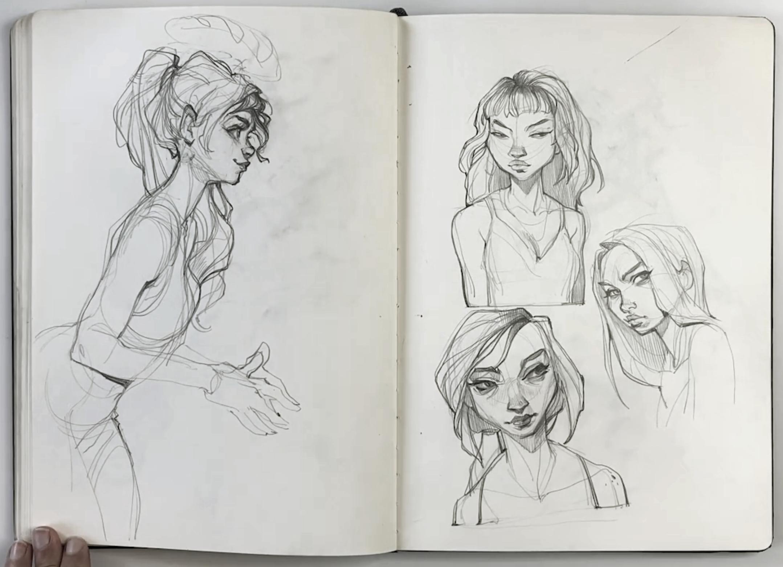 flipthrough // 2016-2017 sketchbook