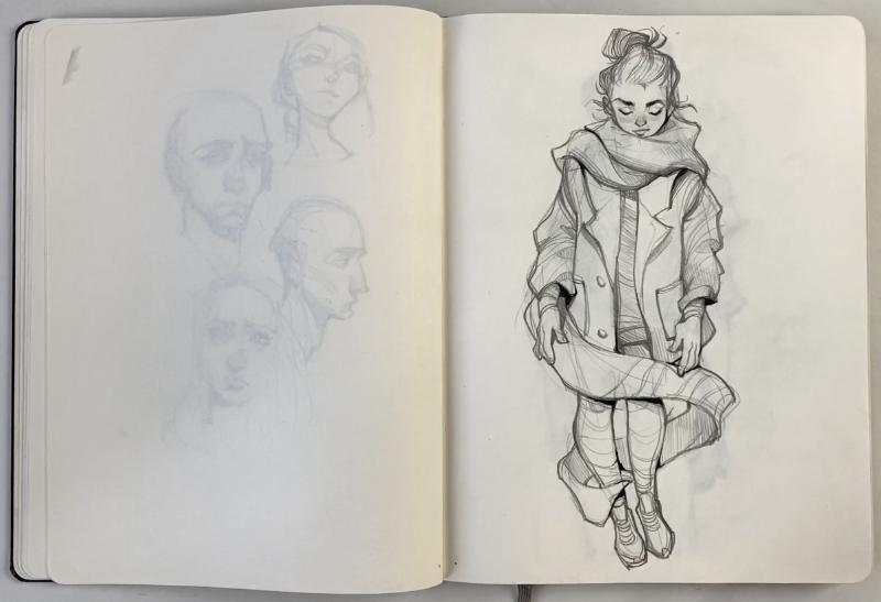 flipthrough // 2017-2018 sketchbook