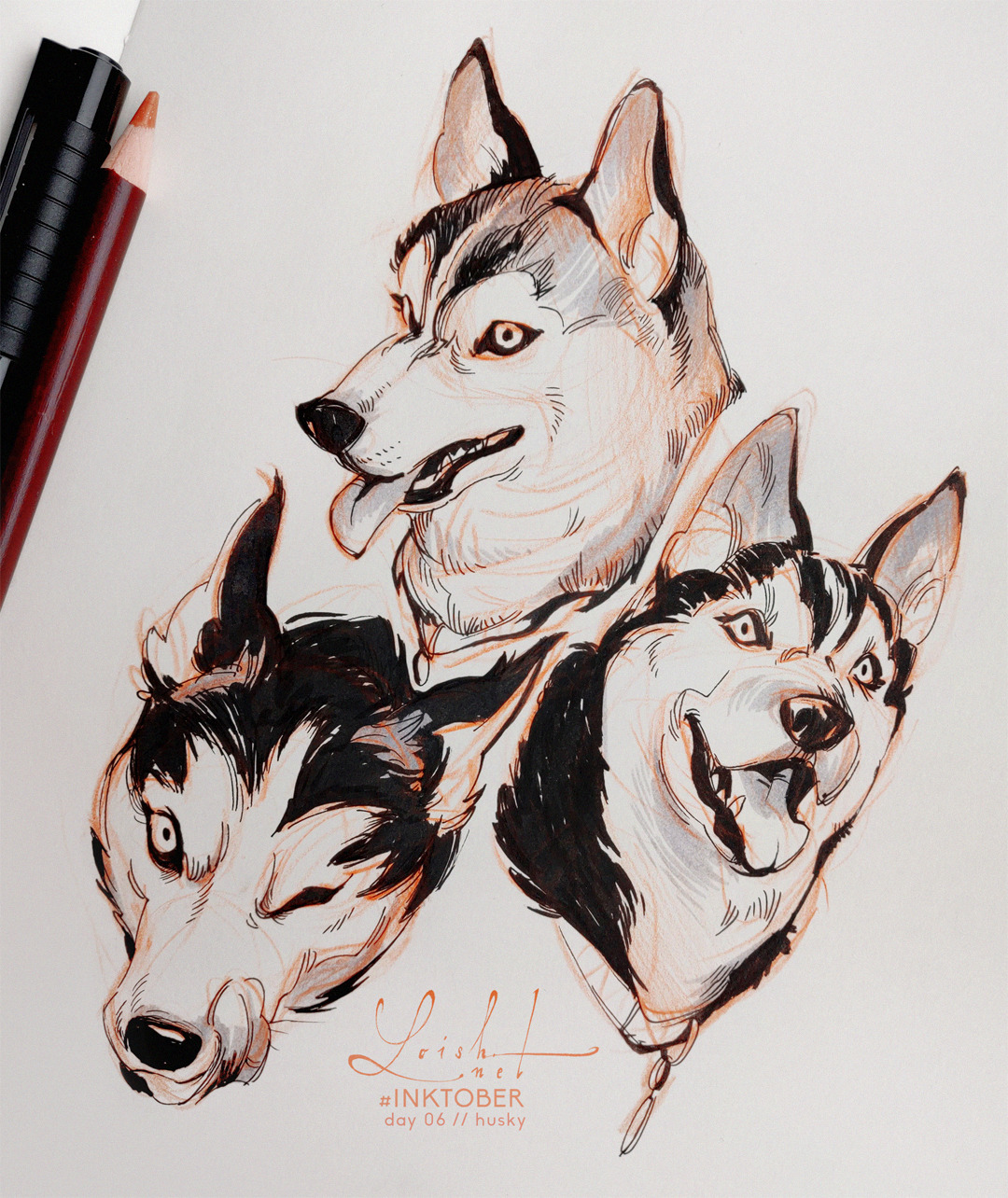inktober 2019 // animals